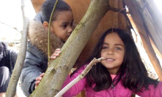 Survival stoer feest 4 tot 6 jaar hutten bouwen natureluur