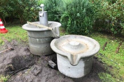 Waterpomp kruidentuin Natureluur eindelijk terug!